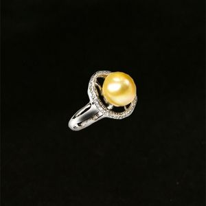 Jewelry - Sterling Pearl and CZ Ring